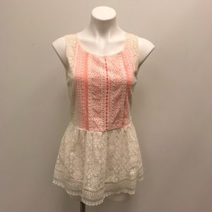 Anthropologie NWT One September Lace Peplum Top